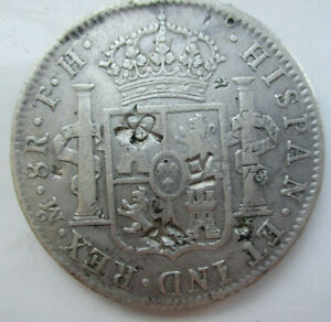 1805 TH Mexico MO Spanish Colony 8Reales (Piece of eight)Silver Coin Chop marks