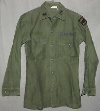 ARMY Utility Shirt 100% Cotton Sateen OG-107 Vietnam Era 1960s size 14 1/2 x 31