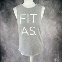 SWEATY BETTY London Fit As Grey Sleeveless Vest Gym Top Size XS