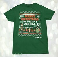 New Home Alone Wet Bandits Christmas Ya Filthy Animal Ugly Sweater Mens T-Shirt