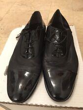 Lanvin Men's Black Leather &vPatent Lace Up Shoe UK 10