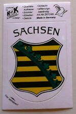 "Aufkleber Wappen ""Sachsen"" - Größe ca. 10 x 7,5 cm - neu"