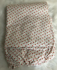New Ralph Lauren Colchester Cotton Red Roses Floral Twin Flat & Fitted Sheet Set