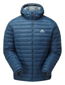 Mountain Equipment Arete Hooded Jacket Men  leichte Daunenjacke mit Kapuze blau