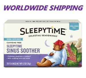 Celestial Seasonings Sleepytime Sinus Soother Wellness Tea 20 CT WORLD SHIPPING
