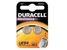 Duracell 1.5v Alkaline Lr54 Lr-54 Coin Cell 189 V10ga Lr1130