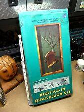 Covered Bridge vtg Kit Carson 1975 dimensional picture art kit 3-D new hobby Og