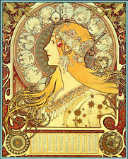 The Astrologer 15x22 Hand Numbered Ltd. Edition Alphonse Mucha