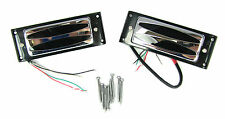 Chrome Oval-Hole Electric Guitar Humbuckers Matched Neck/Bridge Pair 54-21-01
