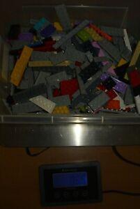LEGO 0,55 Kilo - KG Platten farblich bunt gemischt 1x1 bis 2 x 16 - Paket 2