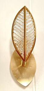 Ein Paar 24K Vergoldete Kolarz Catier Swarovski Kristall Wandlampen 20 cm Hoch