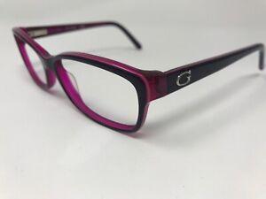 Guess Designer Eyeglasses GU2542 54-14-135 Pink Purple Polish UJ62