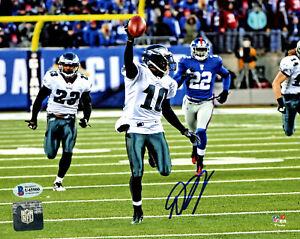 DESEAN JACKSON AUTOGRAPHED SIGNED 8X10 PHOTO EAGLES MIRACLE BECKETT 177630