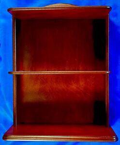 Franklin Mint Fine-Furniture 2-Shelf Hardwood Display (New)
