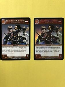 VS System TCG Kate Bishop HAWKEYE X2 Foil PLAYED w/CONDITION Marvel MUN-021