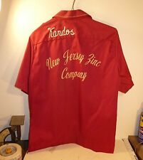 NEW JERSEY ZINC VINTAGE BOWLING SHIRT STERLING HILL MINE MIKE KARDOS HOIST OPS