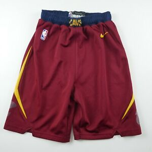 Cleveland Cavaliers Boys Polyester Dri Fit Wine Activewear Shorts Nike Youth M
