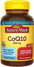 Nature Made 553202  CoQ10 200 mg - 80 Liquid Softgels