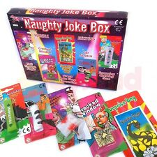 NAUGHTY PRANK JOKE BOX 5 pc SET GAG BOY GIFT PARTY BAG CHRISTMAS STOCKING FILLER