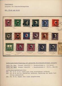 BOSNIA 1919 REKO-BRIEF 35-52 17Stk.Marken auf Brief. SARAJEVO. Richter Signum!