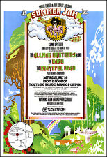 GRATEFUL DEAD ALLMAN BROTHERS THE BAND 1973 Watkins Glen Concert Poster