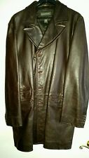 Banana republic vintage style 3/4 length leather jacket brown leather Xtra large