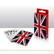 Union Jack Diseño Plástico Recubierto jugando a las cartas London Souvenir Regalo