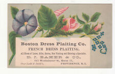 Boston French Dress Plaiting D J Baker & Co Providence Ladd & Davis Card c1880s