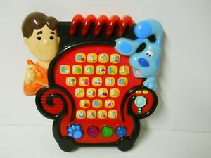Blues Clues Notebook Toy Learning Play Electronic Viacom Joe Chair Alphabet