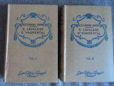 A. Dumas - Il cavaliere d'Harmental - 2 volumi - Sonzogno 1932