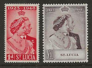 ST LUCIA  SG 144/45  1948 SILVER WEDDING SET   SUPERB UNMOUNTED MINT