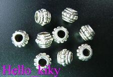 70 Pcs Tibetan silver beaded ornate jar spacer beads A9