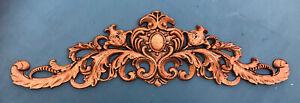Large Ornate decorative pediment Painted Copper Embellisjment