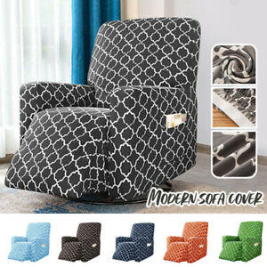 Geometric Clouds Slipcover Stretch Armchair Chair Cover Elastic Home Decoration