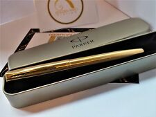 24ct Gold Plated Parker Frontier Fountain Writing Pen In Gift Tin Quink Ink 24k