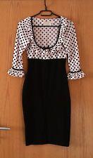 WHEELS & dollbaby Birkin Dress Polka Dots collar abito Pin up vintage Rockabilly