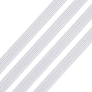 10MM THICK WHITE ELASTIC STRETCHY CRAFTING MASK ELASTIC CORD THICK 2 METERS