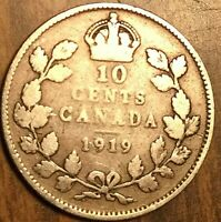 1919 CANADA SILVER 10 CENTS