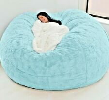 COVER Giant Bean Bag Chair Big Sofa Portable Living Room 7ft Microseud FREE SHIP