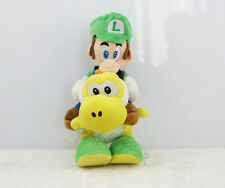 Super Mario Bros Luigi Riding Yoshi Yellow Plush Doll Figure Toy 8 inch US Ship