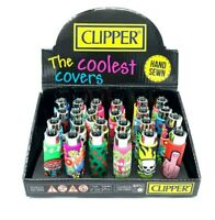 Brand  New  Clipper Refillable Lighters With Pop Rubber Cover Collection