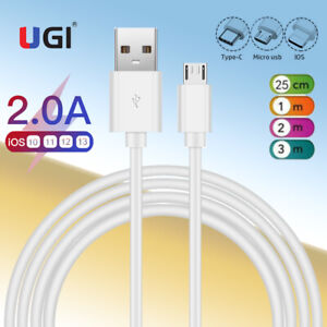 2A Quick Charger Data Sync Cable For iPhone 11 X 7 6s 5 Micro USB Type-c Android