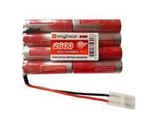 9.6v Battery Pack  Nimh Flat 2x4 Tamiya VAPEXTECH 2600mAh