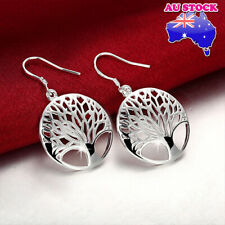 Wholesale Elegant 925 Sterling Silver Filled Tree Of Life Dangle Earrings