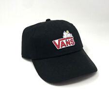 a8859951 Vans Peanuts Court Hat Black Drop V Snoopy OS Baseball Cap New NWT  Adjustable