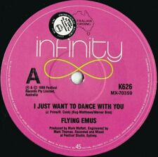 Flying Emus ORIG OZ Promo 45 I just want to dance with you EX 88 Infinity County