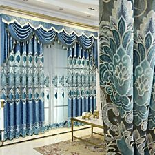 European Embroidery Curtains Fabric Chenille Cloth Blackout Windows Drapes Decor