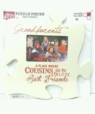 Photo Frame 4x6 Cousins Best Friends For Grandma, Puzzle Piece Wall Art Plaque