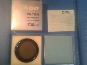 Nikon Polarizing Filter 72 mm screw in mount