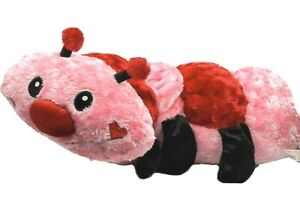 "Dan Dee PLUSH CATERPILLAR Valentines Pink Red Stripes Large Love Bug 35"" Shiny"